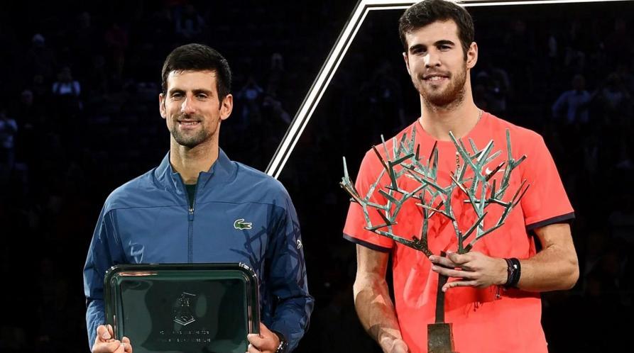 Karen Khachanov dio la sorpresa en París: le ganó la final a Novak Djokovic