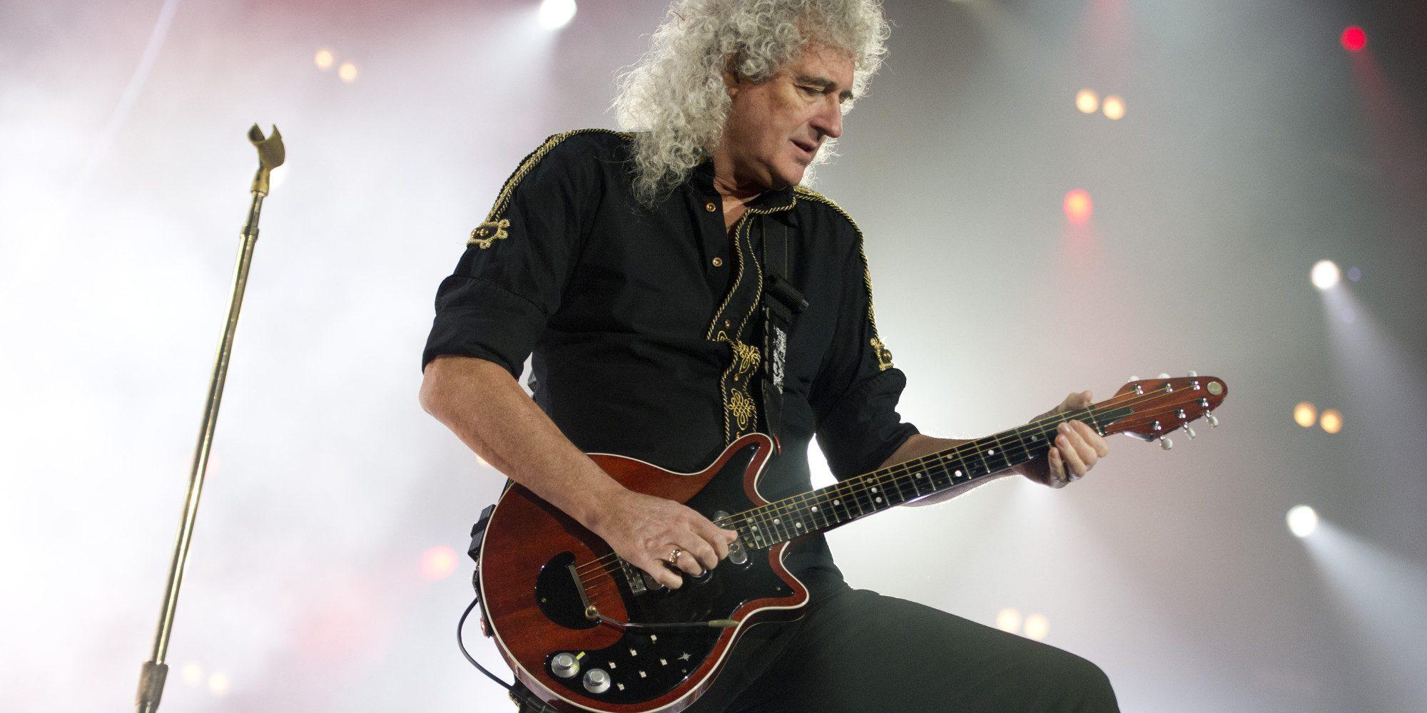 "Brian May tocó el solo de ""Bohemian Rhapsody"" en el set de la película"