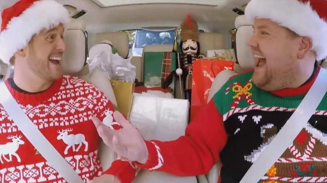 James Corden festeja la Navidad con su «Carpool Karaoke»