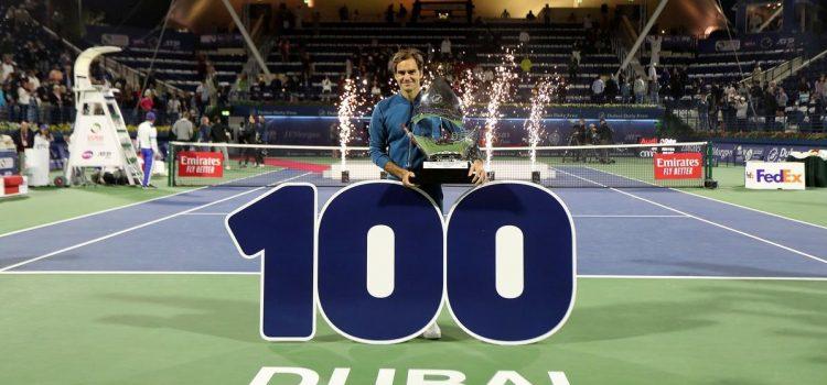 Roger Federer ganó en Dubai y conquistó su título Nº 100