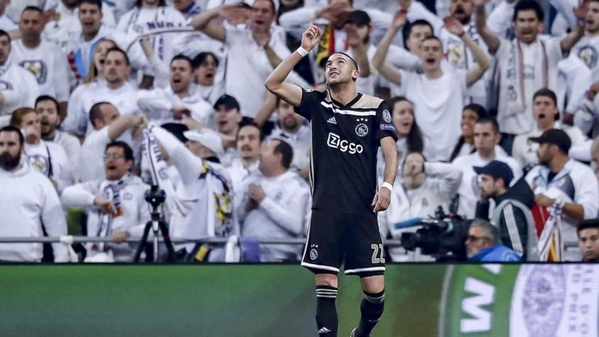 Paliza histórica del Ajax al Madrid en el Bernabéu
