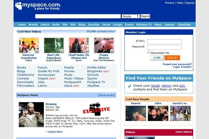 Myspace perdió toda la música subida entre 2003 y 2011