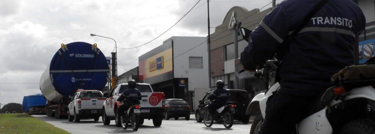 Germán Del Rey contó detalles del operativo de traslado de los molinos eólicos