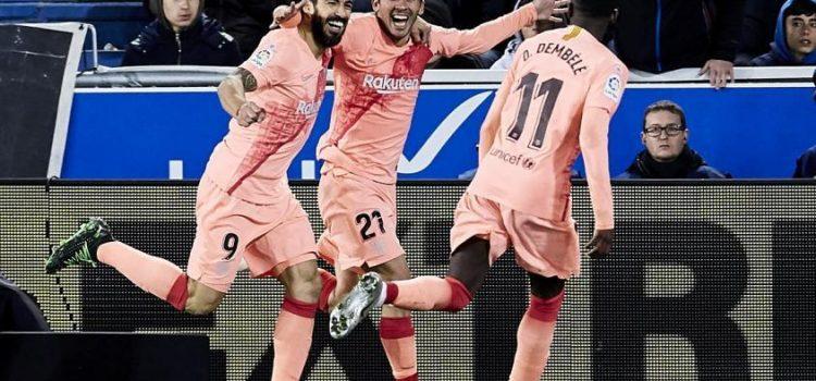 Barcelona venció a Alavés y mañana puede ser campeón