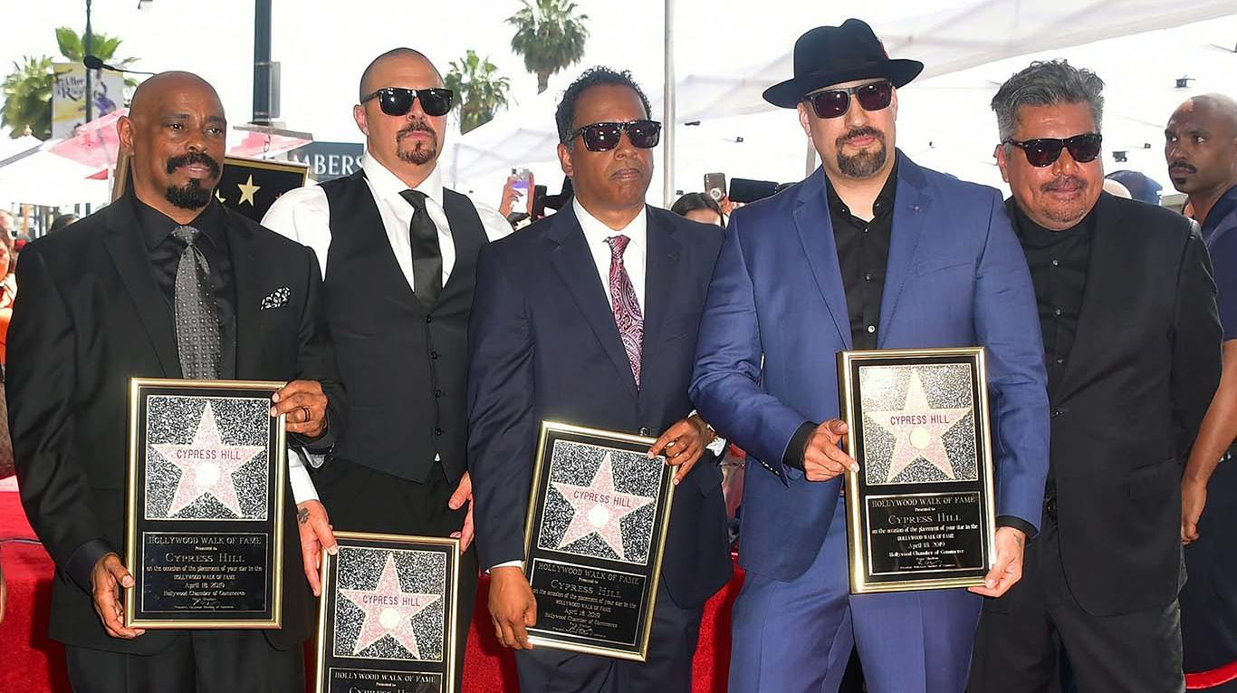 Cypress Hill estrena su estrella en el Paseo de la Fama de Hollywood