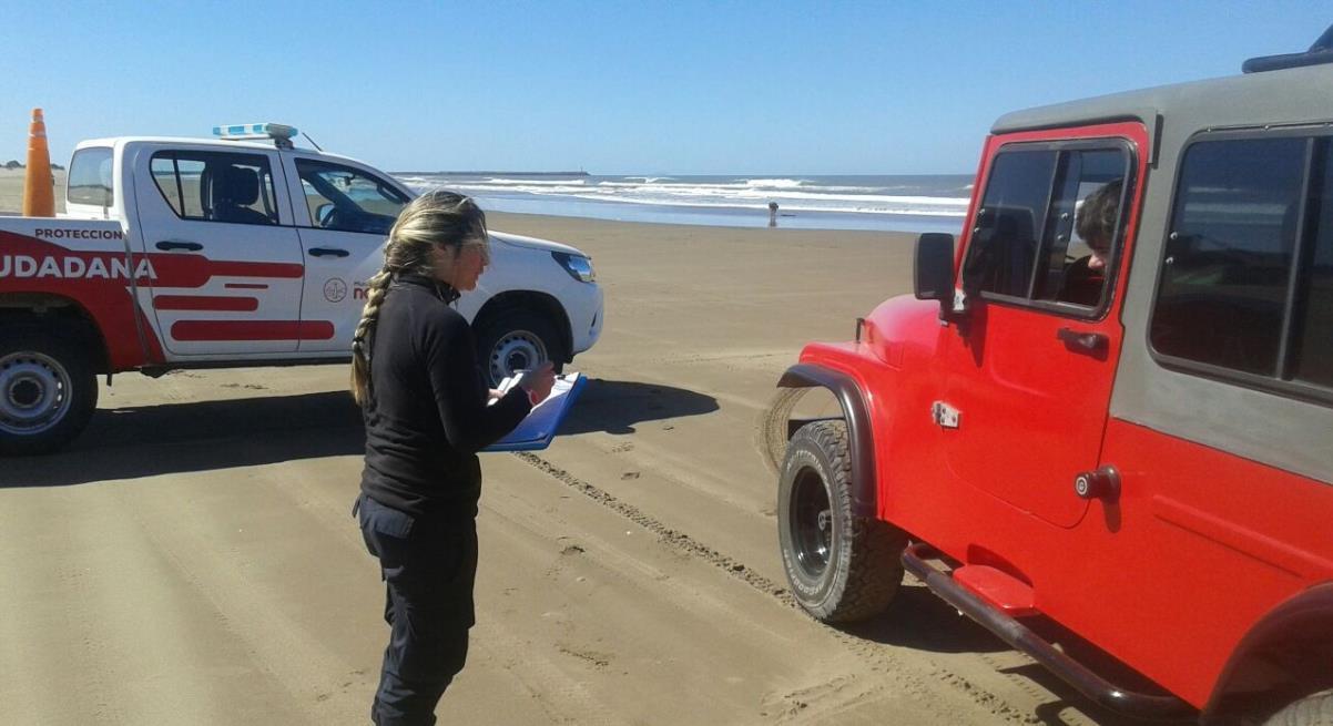 Luciano González de Tránsito se refirió a los controles de los vehículos en la playa