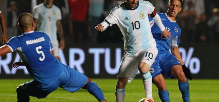 La Selección argentina se despidió con una goleada 5-1 ante Nicaragua